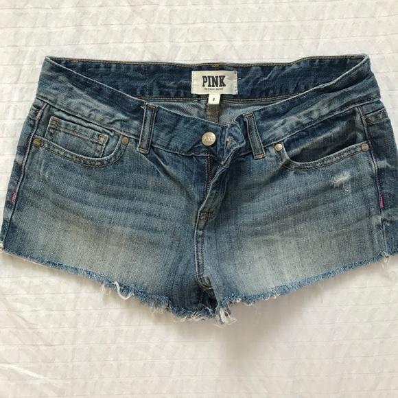 PINK Victoria's Secret Pants - VS PINK denim cutoffs